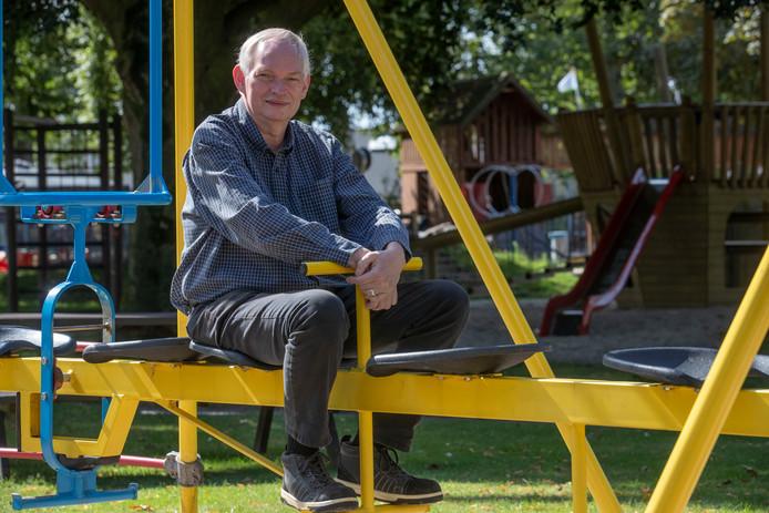 Jan Bakker in speeltuin De Viking.
