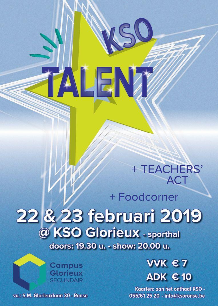 Leerkrachten en leerlingen van KSO Glorieux zullen op het podium hun talenten tonen.