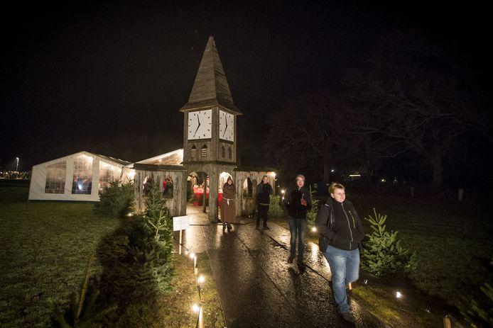 Kerstdorp in Manderveen, waar het hele kerstverhaal tot vorig jaar tot leven werd gebracht.