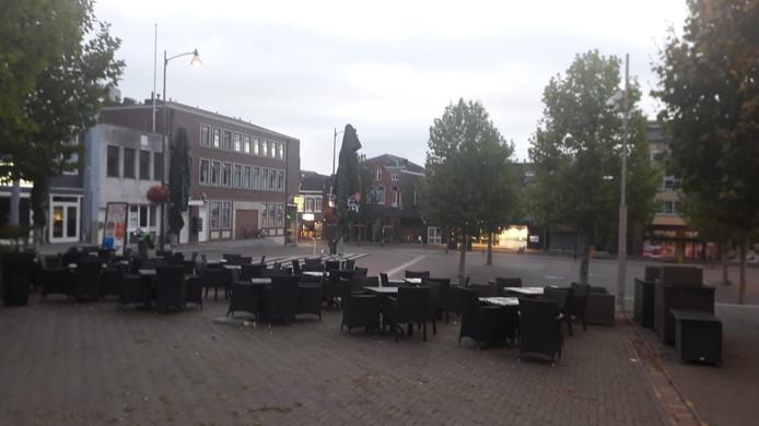 De Markt in Veenendaal vanochtend vroeg.