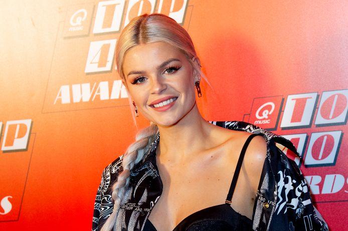Davina Michelle tijdens de awardshow vorig jaar.