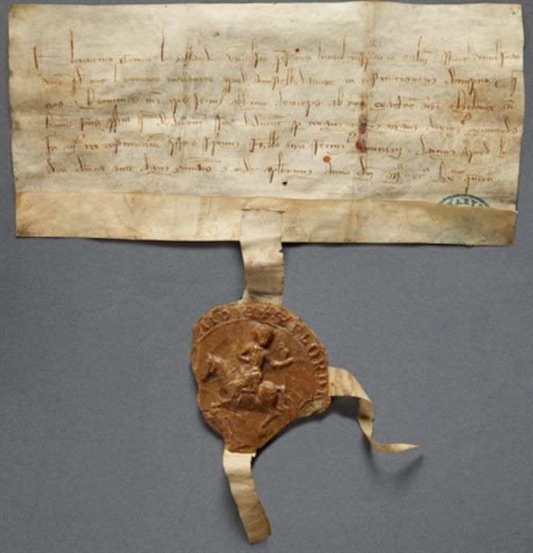 Het Tolprivilege van 1275 Beeld Stadsarchief Amsterdam
