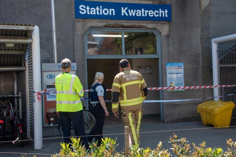 Ongeval in station Kwatrecht : het station werd tijdelijk gesloten.