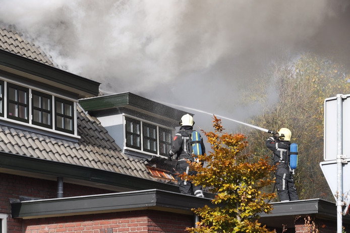 Zolderbrand in Asten.