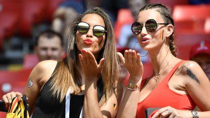 Vrouwen Witsel en Carrasco gooien hoge ogen in Spartak Stadium, dat overspoeld wordt door Belgische en Tunesische fans