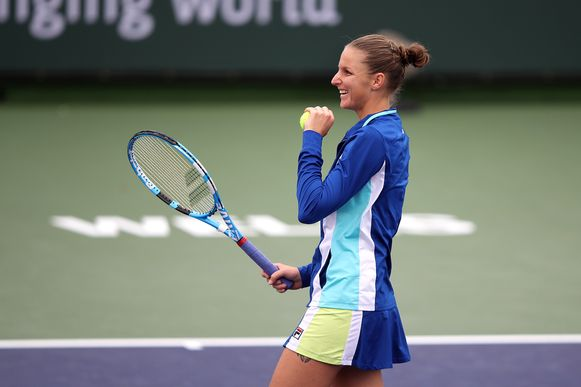 Karolina Pliskova haalde het van Bonaventure.