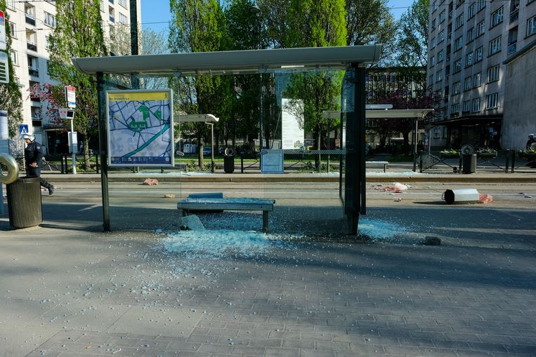 Rellen in Anderlecht: Albert I plaats.