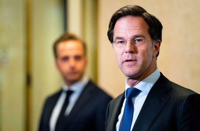 Premier Mark Rutte en vice-premier Hugo de Jonge.