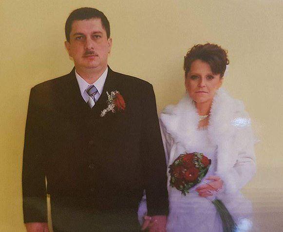 Piotr en Agnieszka in 2009, toen ze elkaar het ja-woord gaven.