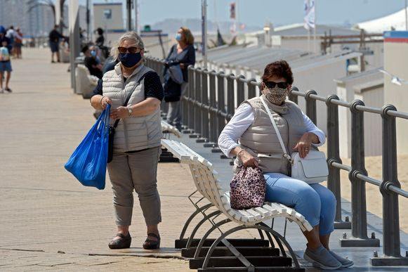 In Oostende is het dragen van een mondmasker verplicht.