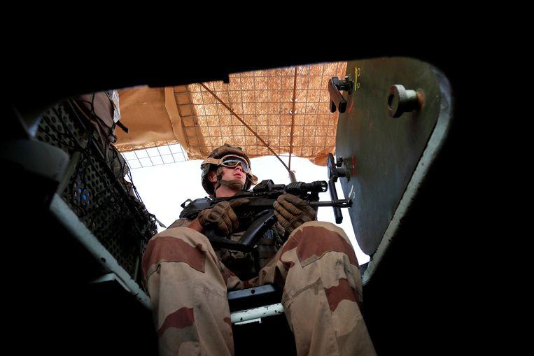 Een Franse soldaat in Mali