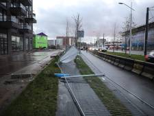 Stormschade in Delft door flinke windstoten