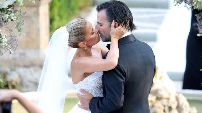 IN BEELD. Sylvie Meis schittert in peperdure trouwjurk op huwelijk in Toscane