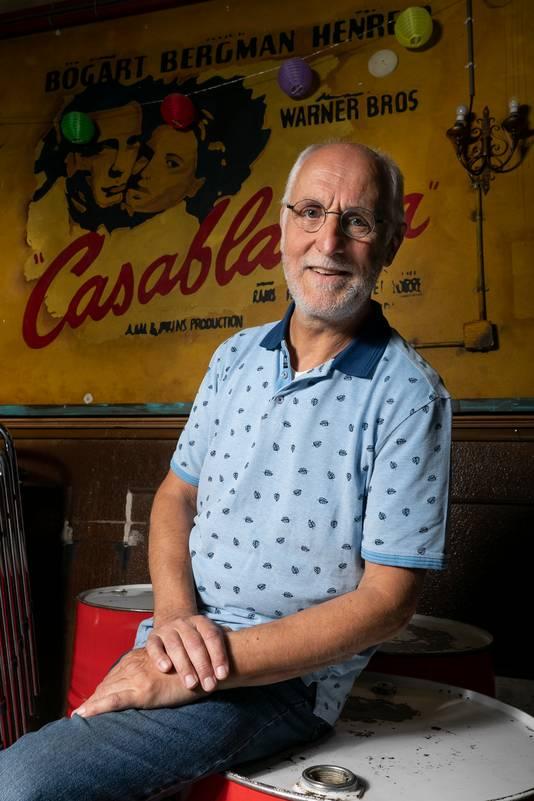 Voorzitter van de Filmclub Schijndel,  Jac van Houten.