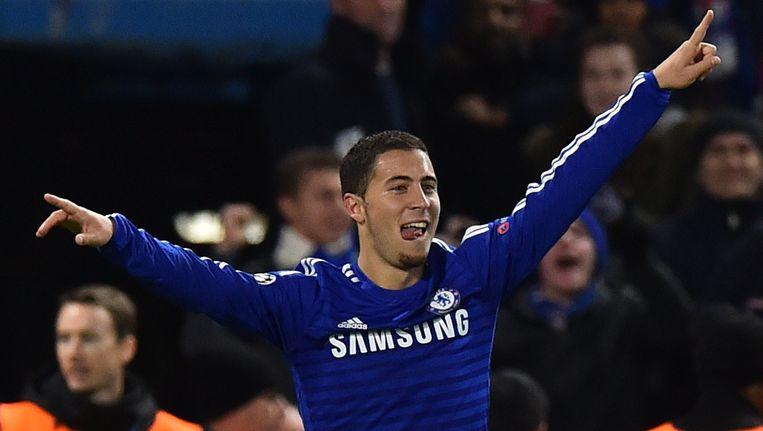 Eden Hazard is de eerste Belg die wordt gekozen tot speler van het jaar in Engeland. Beeld afp
