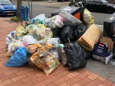Afval overspoelt de Eindhovense straten