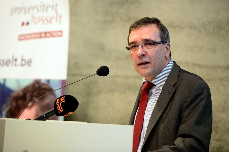 Rector Luc De Schepper van de Universiteit Hasselt.