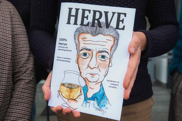 Het magazine Hervé dat de studenten hebben gemaakt.