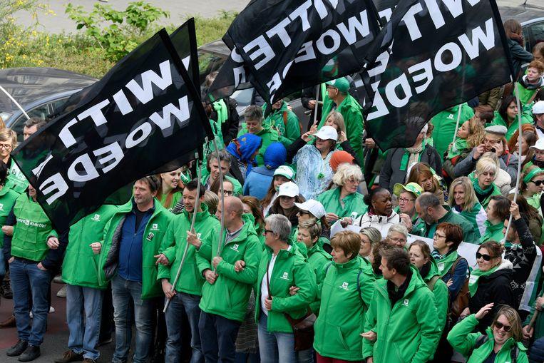 Een staking van de non-profitsector in Brussel. Archieffoto.