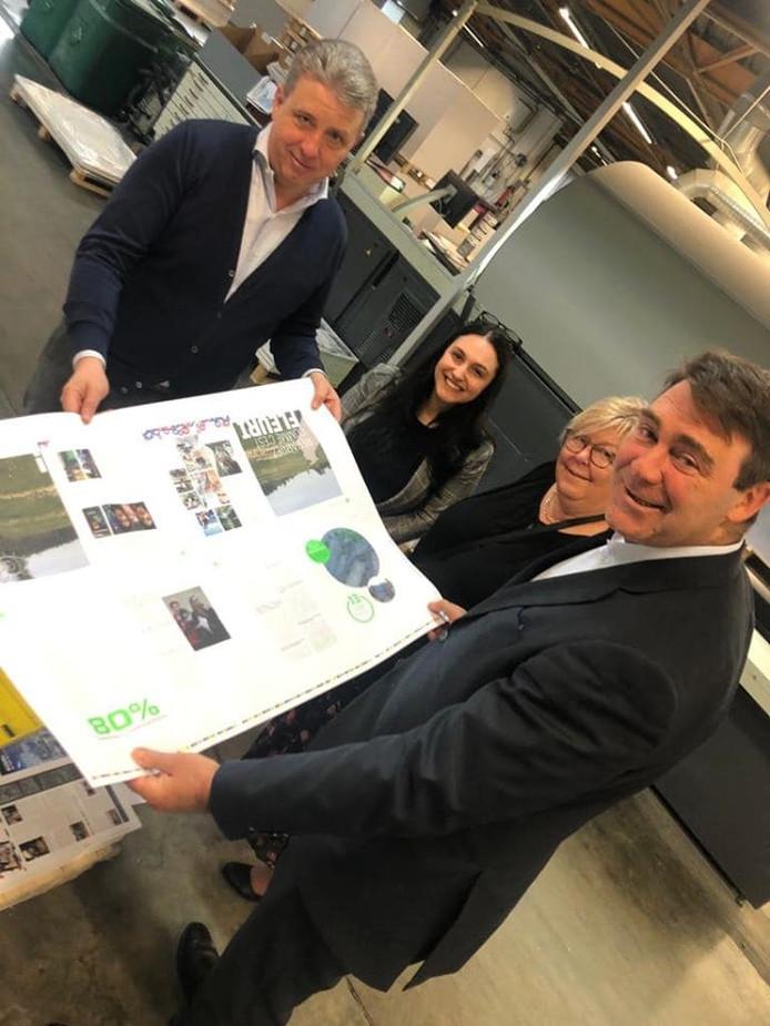 Denis Ducarme s'est rendu à l'imprimerie Bietlot à Gilly (Charleroi)