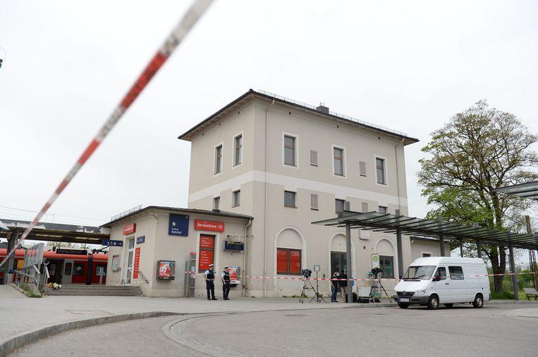 Exterieur van het treinstation van Grafing, in de buurt van München. Beeld epa