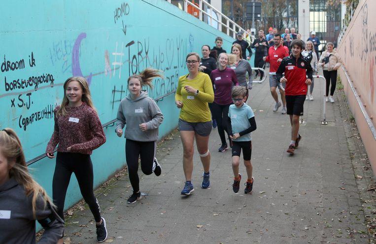 Deelnemers aan de Urban Trail van Sila Westerlo.