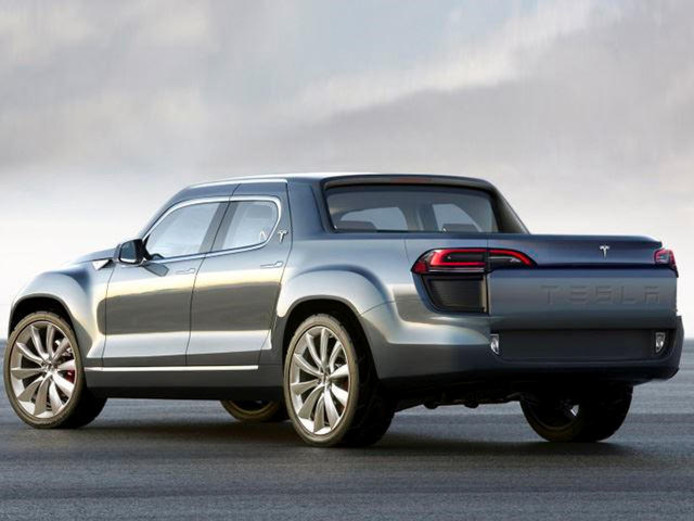 Artist's impression van de Tesla pick-up