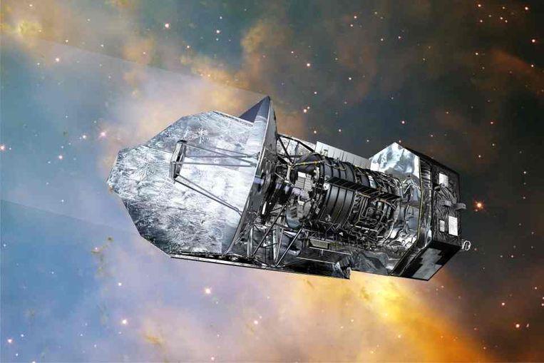 Herschel-ruimtetelescoop, met aan boord de defecte Nederlandse HIFI-camera. (BNSC) Beeld