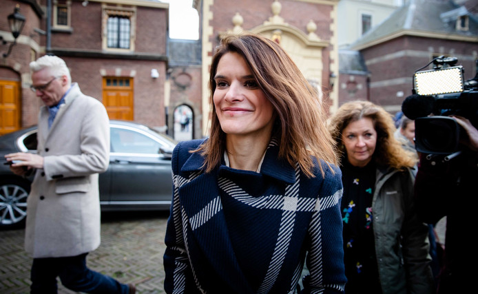 Staatssecretaris Barbara Visser van Defensie (VVD) arriveert op het Binnenhof voor de wekelijkse ministerraad.