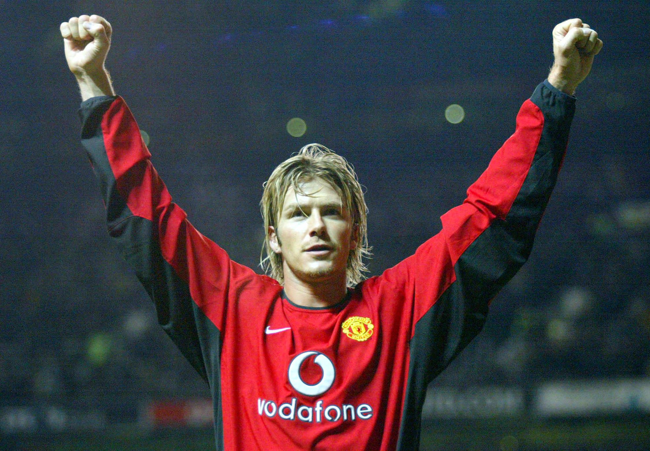 David Beckham in 2003, als speler van Manchester United.