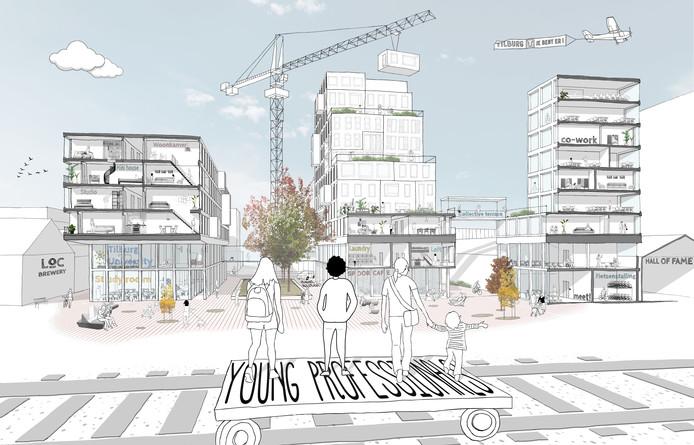 Eerste schets van de Young Professional Campus