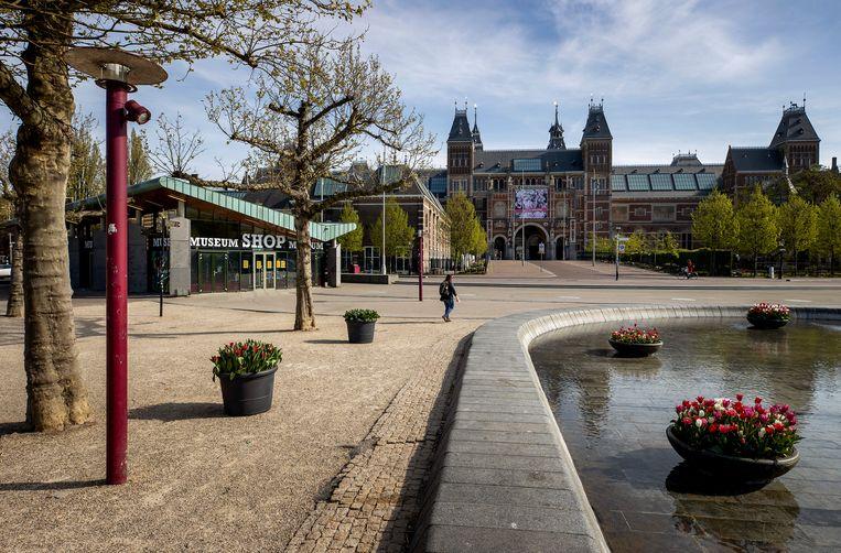 Een verlaten Museumplein tijdens de coronacrisis. Beeld Hollandse Hoogte/ANP