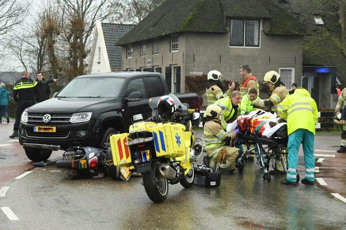 De brandweer moest het slachtoffer bevrijden.