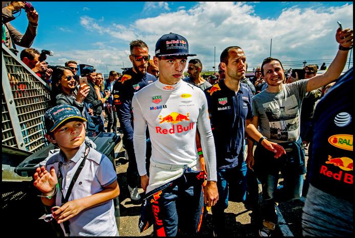 Max Verstappen tijdens de Jumbo Racedagen 2017 in Zandvoort.