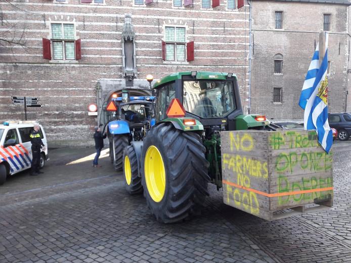 Actie boeren op het Abdijplein in Middelburg in december 2019.