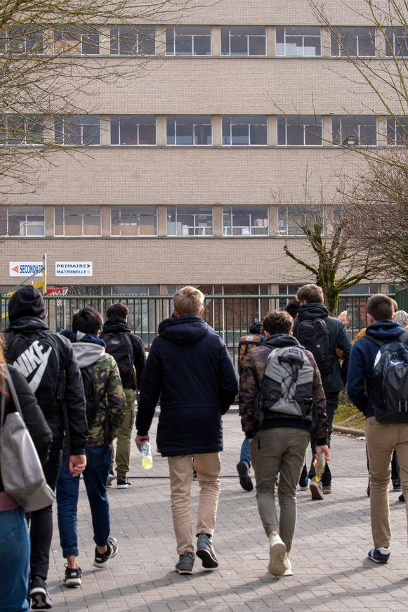 De leerlingen van het Don Bosco-college konden gisteren praten met een psycholoog.