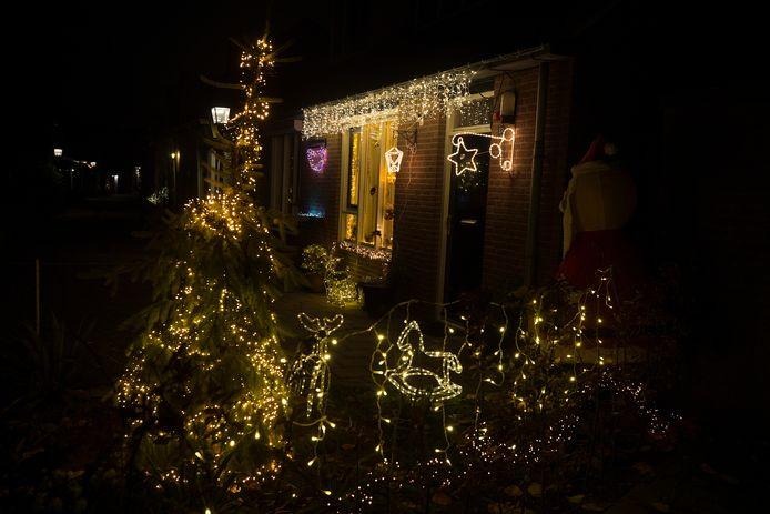 Het 'kersthuis' in de Windmolenstraat in Doesburg. Foto: Theo Kock