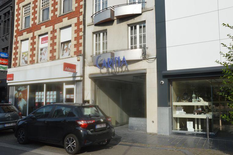 De eerste start-upstore komt in het leegstaand pand van de vroegere schoenenwinkel Carina.