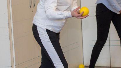 Zelfs in training straalt zwangere Kate