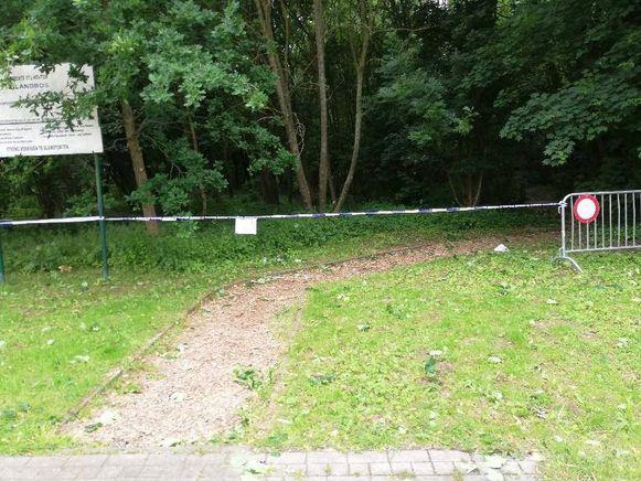 Het Eilandbos is momenteel niet toegankelijk wegens gevaar op vallende takken.