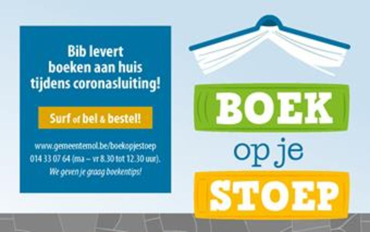 De affiche voor het project 'Boek op je stoep'.