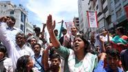 Textielarbeiders in Bangladesh protesteren voor achterstallig loon