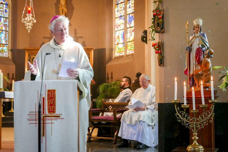 Viering 1.000 jaar Massemen met bisschop Luc Van Looy.
