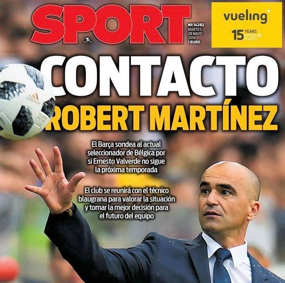Het Spaanse Sport pakt groot uit met het nieuws.
