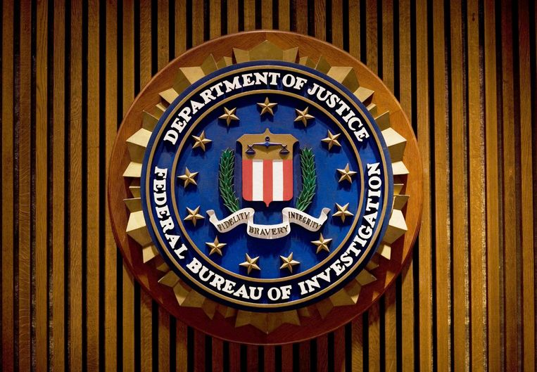 Het FBI-logo. Beeld afp