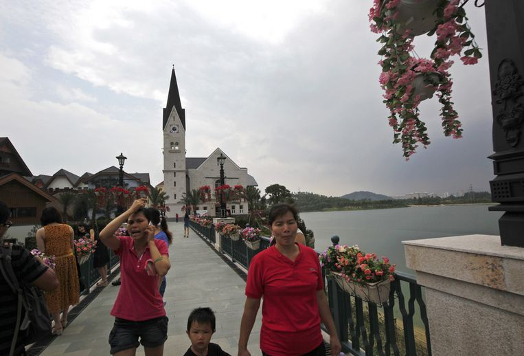 Het nagebouwde Hallstatt in China.