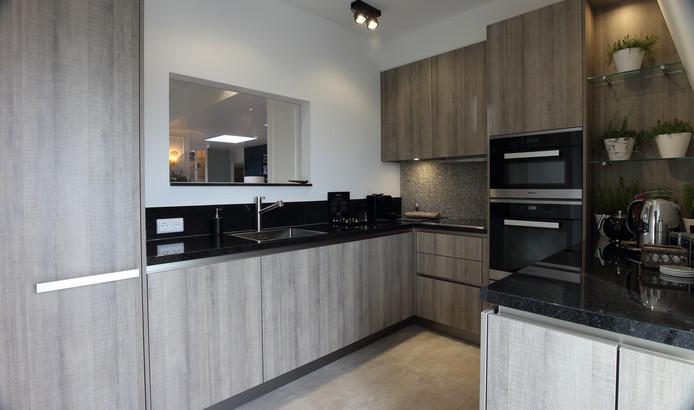 Keuken in het penthouse van Hotel Central