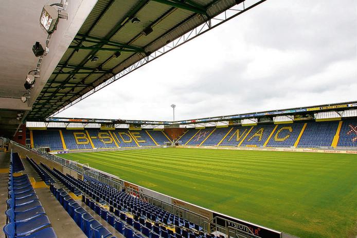 Het NAC-stadion is nog altijd in handen van de gemeente Breda.