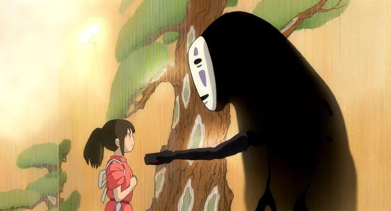 Beeld uit Spirited Away (Hayao Miyazaki, 2001). Beeld Studio Ghibli