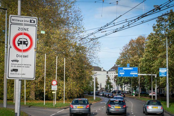 Milieuzone in Arnhemse binnenstad.
